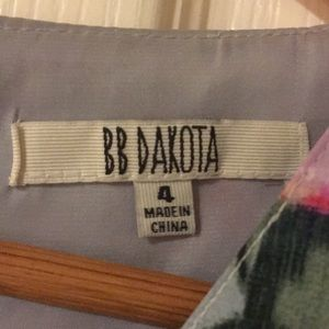 BB Dakota Dresses - Floral grey green and pink dress
